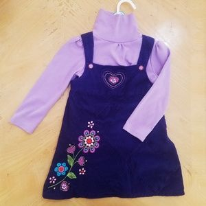 Garanimals 3T purple dress & turtle neck. EUC!